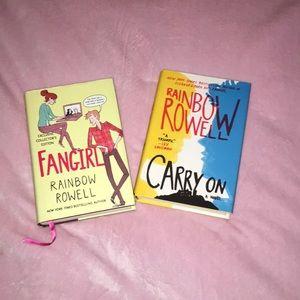 2 (pre bundled) Rainbow Rowell Hard Cover Books